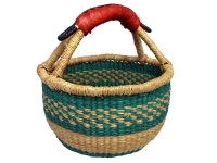 "Mini Basket (With Leather Handle) (G-149A)    6"" - 8"" diameter"
