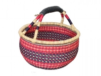 "Round Basket (w/ Rubber Handle) (G-159R) 15"" - 18"" diameter"