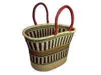 "V-shaped Oval Basket (G-144)   17"" wide, 13"" tall"