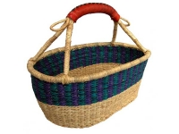 "Short Oval Basket (G-146)    8"" x 16"" x 6"" tall"