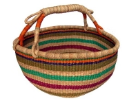 "Round Basket (No Leather Handle) (G-159)   16"" - 18"" diameter"