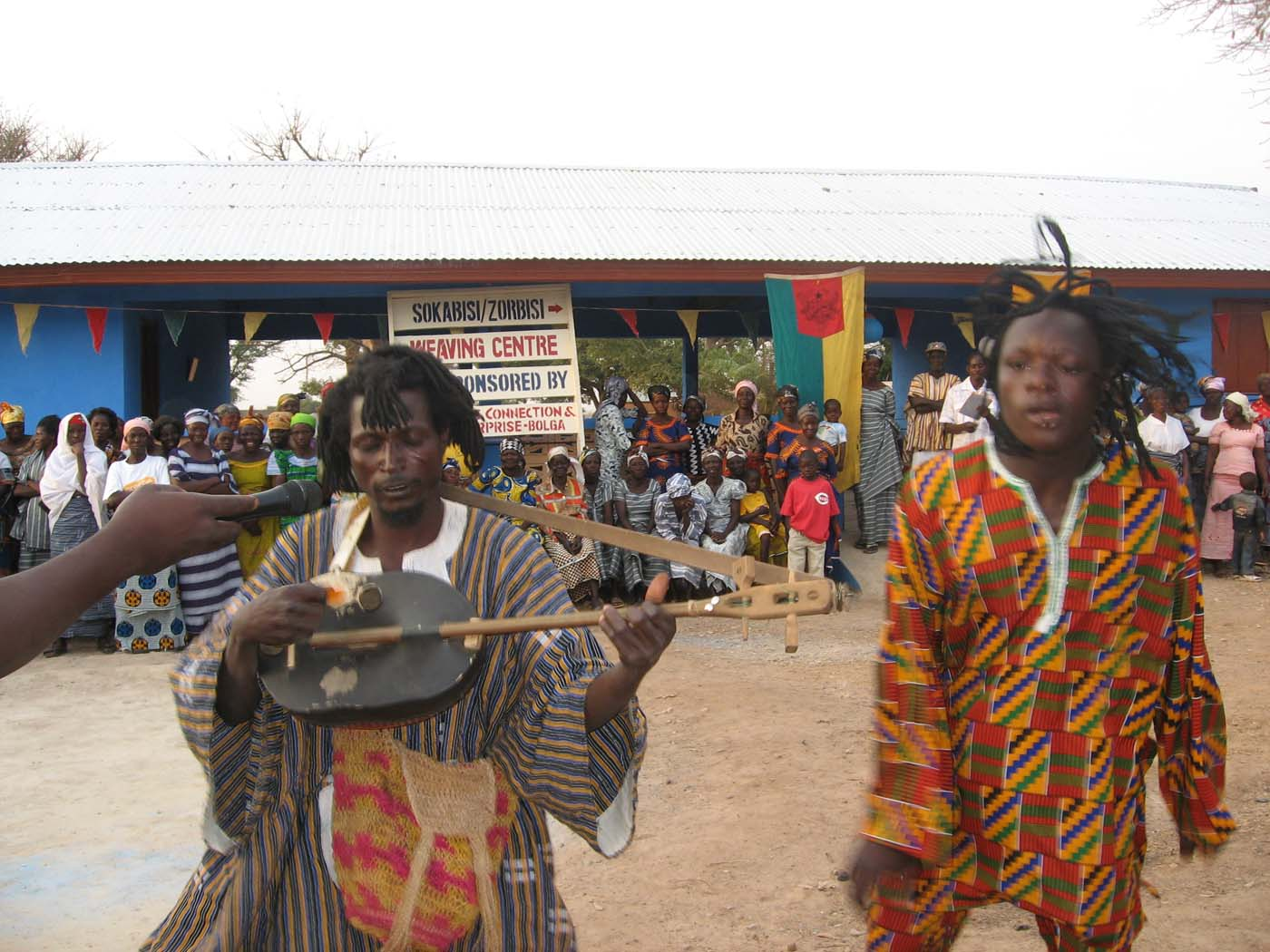 King Ayisoba providing music for the ceremony