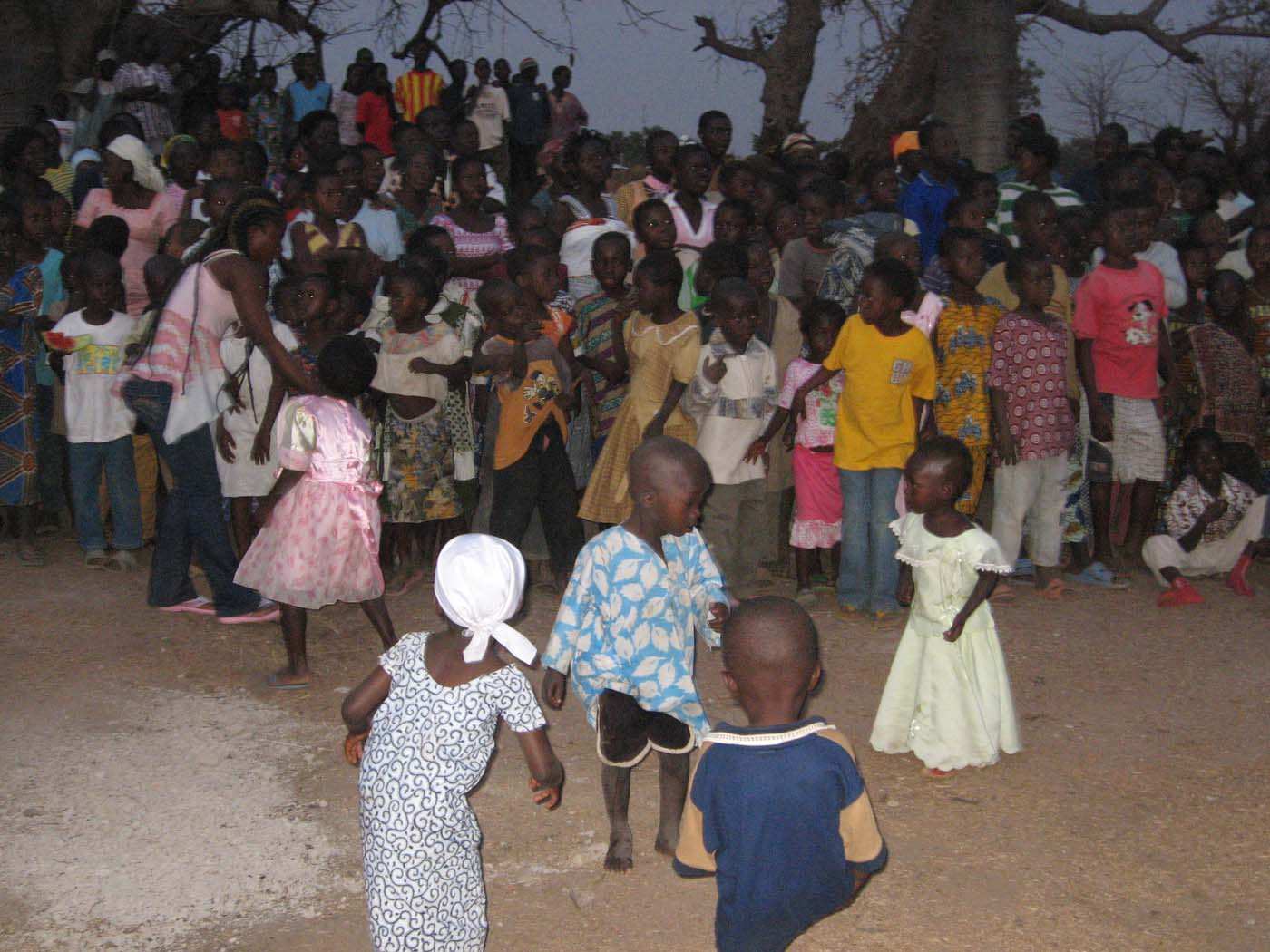 Children joining in the dancing