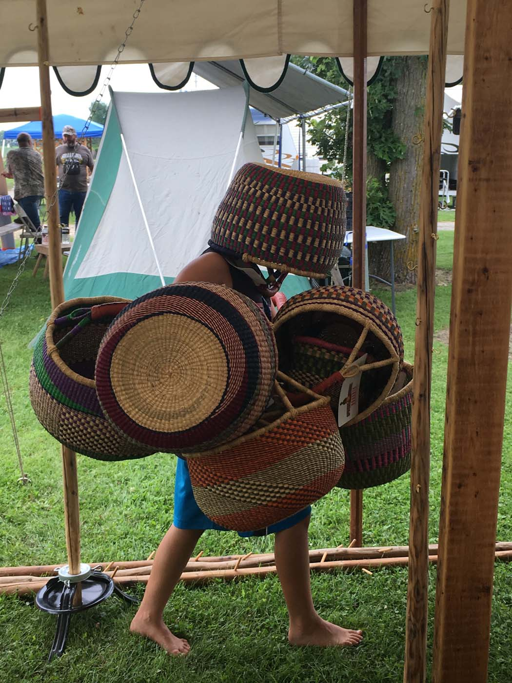 Shaping baskets transforms them into their full-bodied form