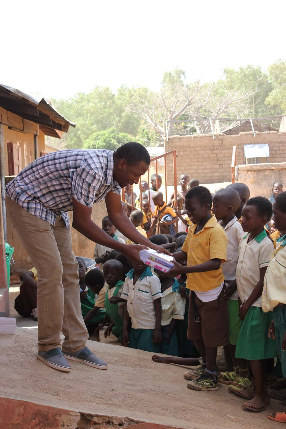 Our longtime partner, Paul, handing out supplies