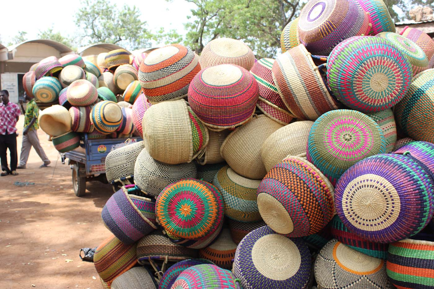 Baskets piled up high post-market