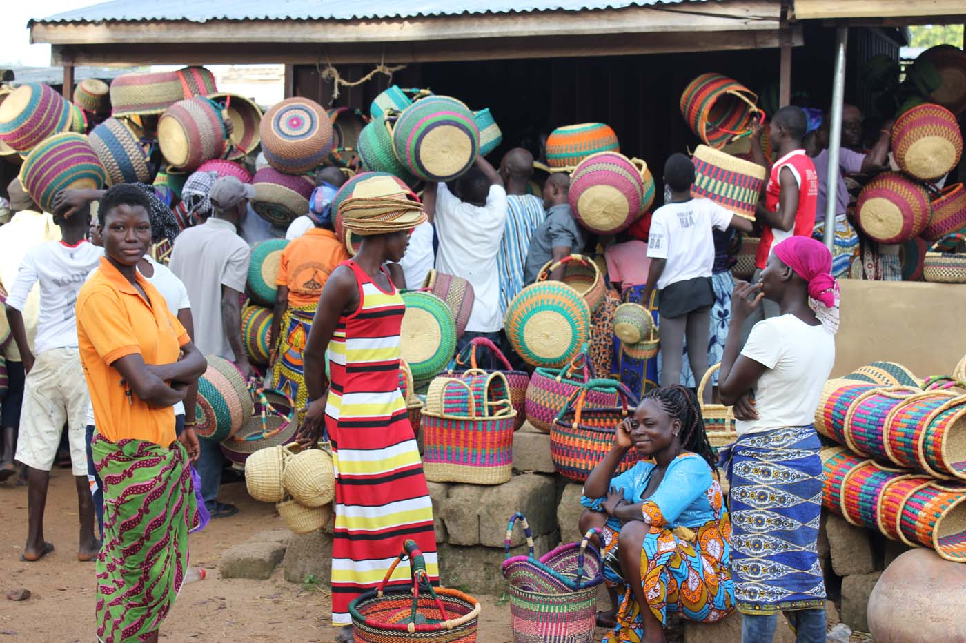 Colorful commotion at the market