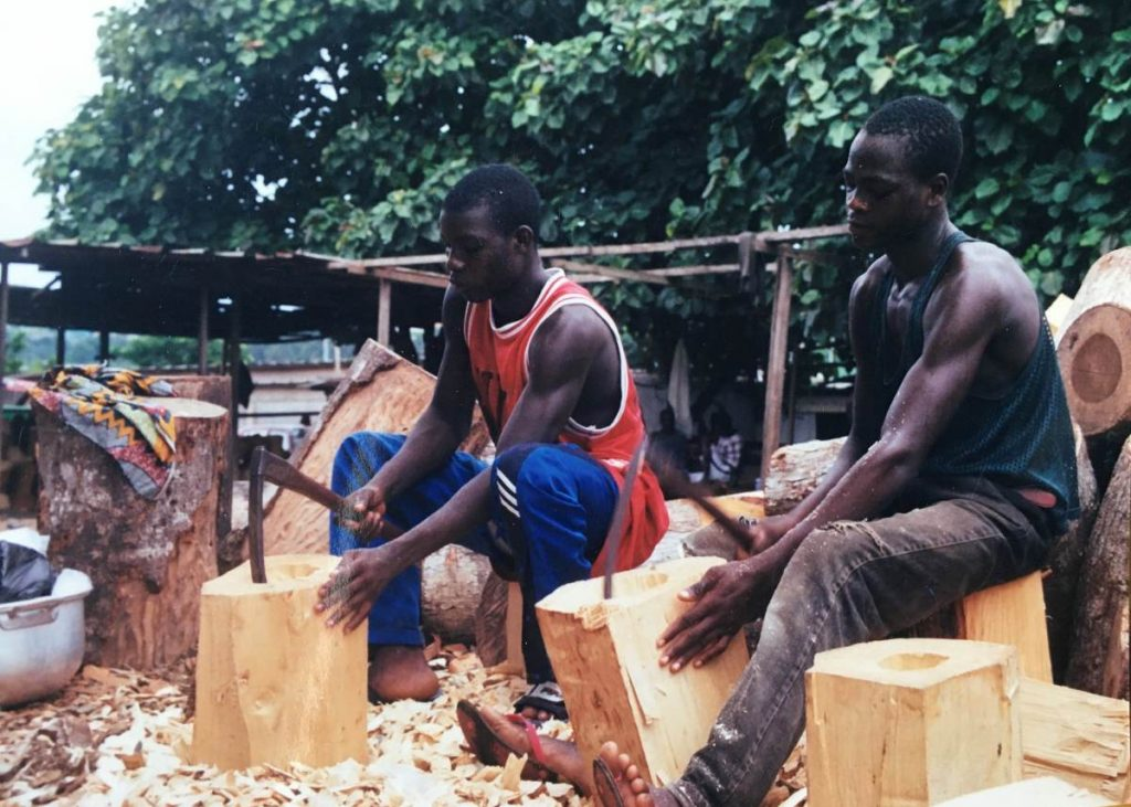 Two Drum Carvers in Mali, Africa
