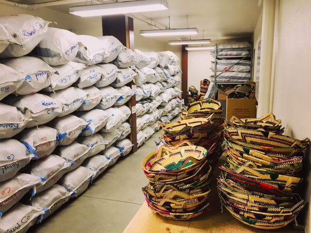 Sacks of African Market Baskets from Africa