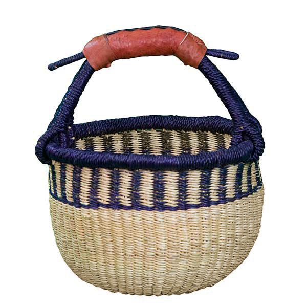 G-149AN+-5 Basket with leather handle from Africa