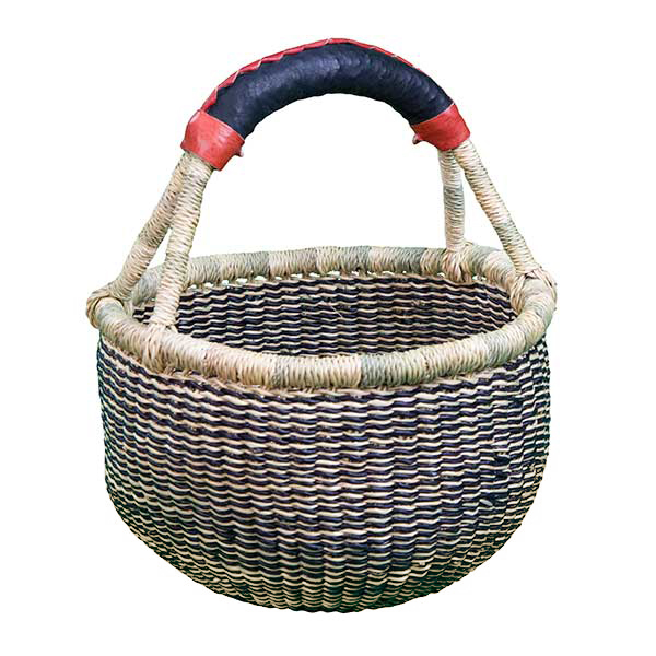 G-150N+-3 Basket with leather handle from Africa